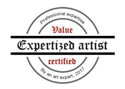 Certified value Expertized artist