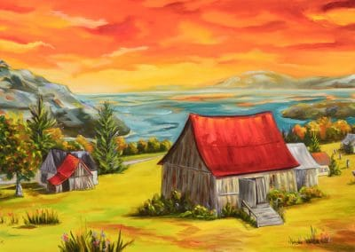 Home sweet home, oil-based, 50.8cmx101.6cm(20x40in.)